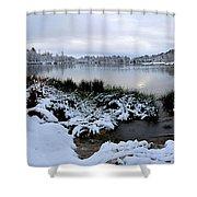 Panorama Of Winter Lake Shower Curtain