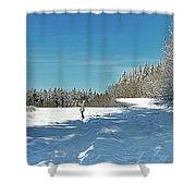 Panorama Of Winter Park Shower Curtain