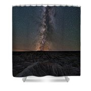 Panorama Point Milky Way Badlands  Shower Curtain
