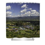 Panorama View Point Of Pai   Shower Curtain