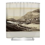 Panorama Von Zermatt Shower Curtain