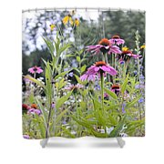 Panoramic Bouquet Shower Curtain