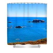Panoramic California Coast Shower Curtain