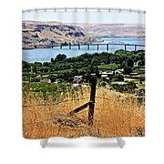 Panoramic Columbia River  Shower Curtain