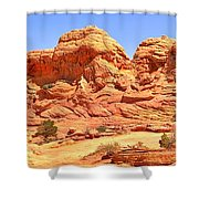 Panoramic Coyote Buttes Landscape Shower Curtain
