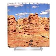 Panoramic Desert Landscape Fantasyland Shower Curtain