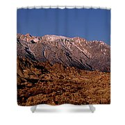 Panoramic Moon Set Alabama Hills Eastern Sierras California Shower Curtain