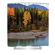 Panoramic Northern River Shower Curtain