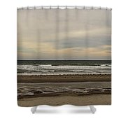 Panoramic Of Nantasket Beach Shower Curtain
