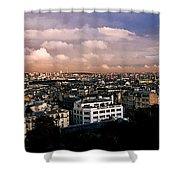 Panoramic Paris Sky.  Shower Curtain