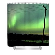Panoramic Prairie Northern Lights Shower Curtain