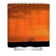 Panoramic Prairie Sunset Shower Curtain