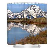Panoramic Reflections At Oxbow Shower Curtain