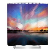 Panoramic Seascape Shower Curtain