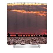 Panoramic Sunset 3-18-2016 V2 Shower Curtain
