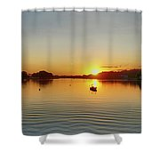 Panoramic Sunset Shower Curtain