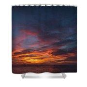 Panoramic Sunset Overtorrey Pines, San Diego Beach, California Shower Curtain