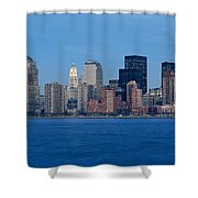 Panoramic Sunset View Of Lower Shower Curtain