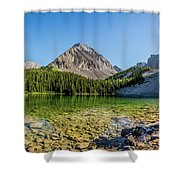 Panoramic View Of Chester Lake Shower Curtain