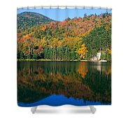 Panoramic View Of Crawford Notch State Shower Curtain