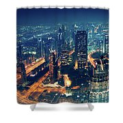 Panoramic View Of Dubai City Shower Curtain