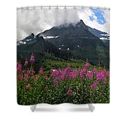 Panoramic View Of 'going To Sun Road' Shower Curtain