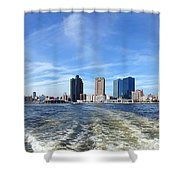 Panoramic View Of Kaohsiung City Waterfront Shower Curtain