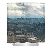 Panoramic View Of Old Jerusalem City Shower Curtain