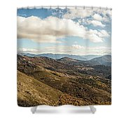 Panoramic View Of Olmi Cappella Valley With In Corsica Shower Curtain
