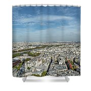Panoramic View Of Paris From The Top Of The Tower Shower Curtain