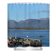 Panoramic View Roundstone Harbour Shower Curtain