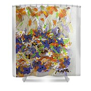 Pansies And Lillies Shower Curtain
