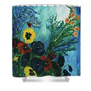 Pansies And Poise Shower Curtain