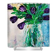 Pansis Vase Shower Curtain