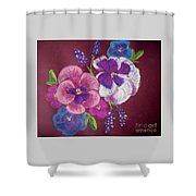 Pansy Grandeur Shower Curtain