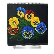 Pansy Lions Shower Curtain