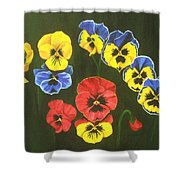 Pansy Lions Too Shower Curtain