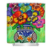 Pansy Parade Shower Curtain