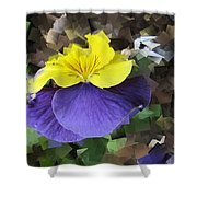 Pansy Squared Shower Curtain