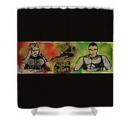 Killmonger Vs Tchalla Shower Curtain