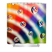 Pantone Bubbles Shower Curtain