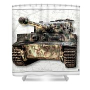 Panzer Tiger I Front Shower Curtain