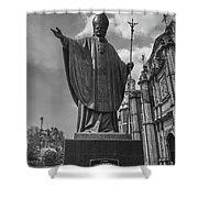 Papa Juan Pablo II - Mexico City Byn Shower Curtain