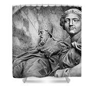 Papal Statues Inside St Peter's Basilica Shower Curtain