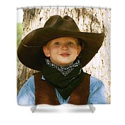 Papa's Big Hat 1 Shower Curtain
