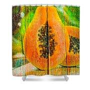Papaya Dreaming Shower Curtain