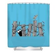 Paper Bird Shower Curtain