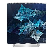 Paper Blue Shower Curtain