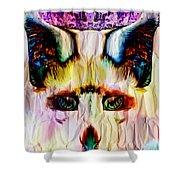 Paper Fox  Shower Curtain