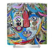 Paper Girl Windy Day Shower Curtain
